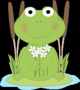 frog-flower-pond